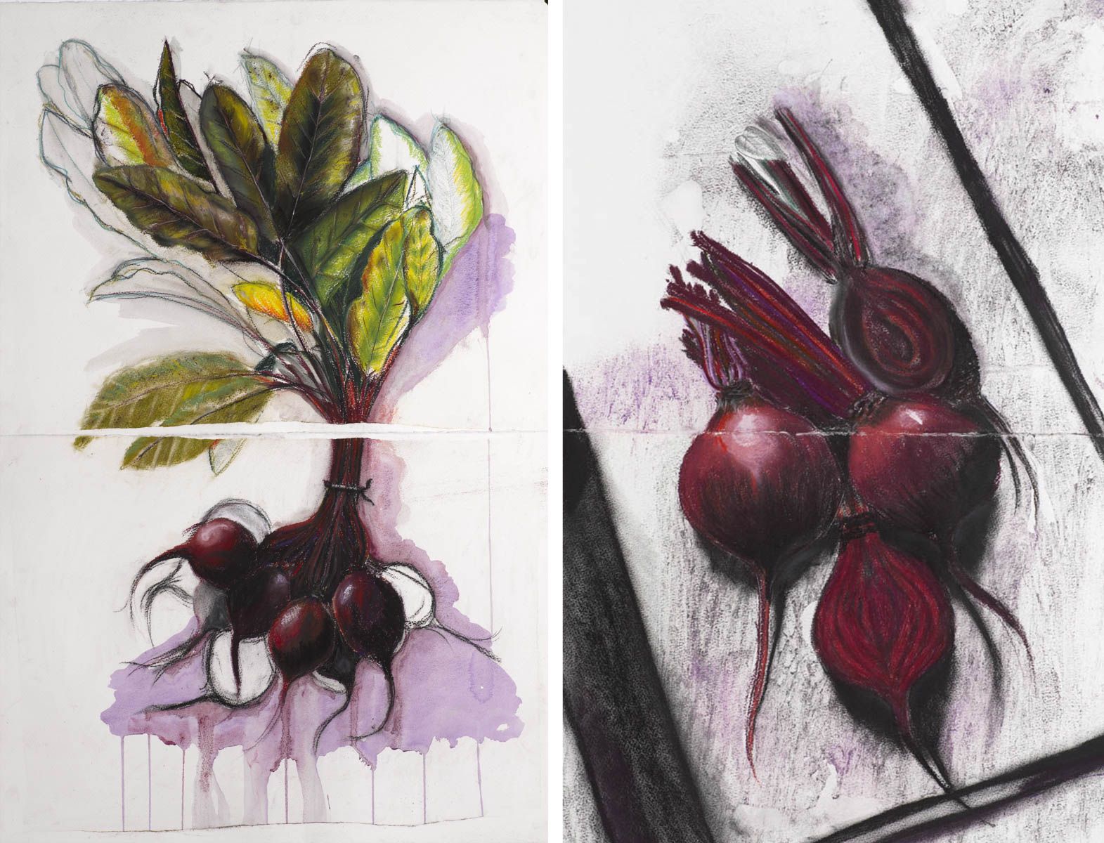 beetroot diptych